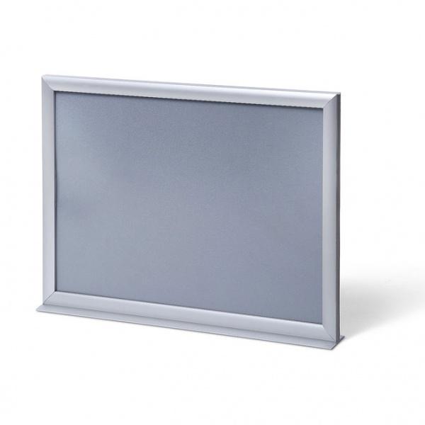 Doppelseitiger Info-Topper 21x29,7 cm (A4) | aluminium | Antireflex-Folie
