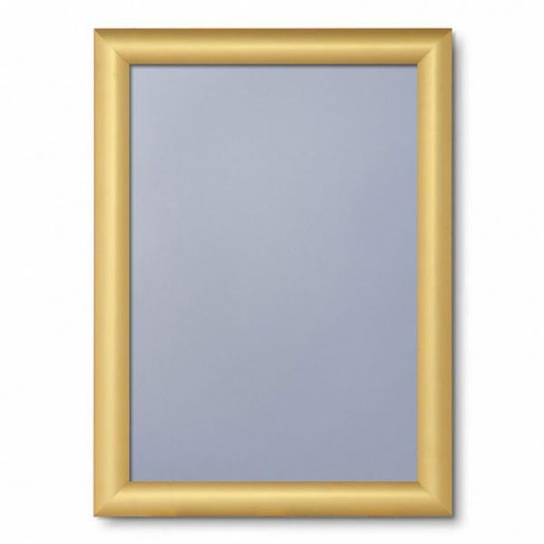 Klapprahmen Color, 25 mm 21x29,7 cm (A4) | Gold matt | Antireflex-Folie